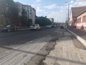Coridorul Nufărul-Cantemir - Pregătiri pentru asfaltarea părţii stângi