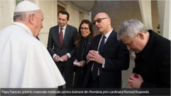 De ziua lui de nume, Papa Francisc a donat pentru România - Echipamente pentru combaterea pandemiei