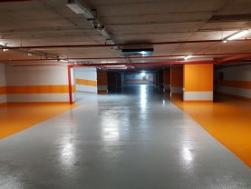 Parcarea subterană din str. Independenței - S-a turnat ultimul planșeu