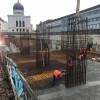 Parcarea subterană din strada Independenţei - A fost turnat planşeul inferior