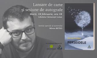"""Lansare de carte şi sesiune de autografe - """"Perseidele"""", de Mircea Pricăjan"""