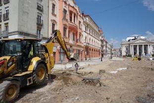 Reabilitarea Pieței Ferdinand și pietonalizarea străzii Aurel Lazăr - Nici jumătate din lucrări nu au fost realizate