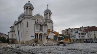 Se amenajează centrul de cartier Ioşia - Au început lucrările