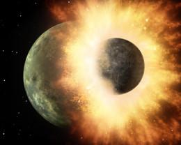 Cum a înghiţit Terra protoplaneta Theia şi s-a născut Luna - O poveste cosmică