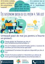 """A şaptea ediţie lansată de Fundaţia Comunitară Oradea - Programul """"Bursa Talentelor""""."""