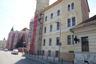 Reabilitarea clădirii Primăriei Oradea - Fațada dinspre râu, descoperită