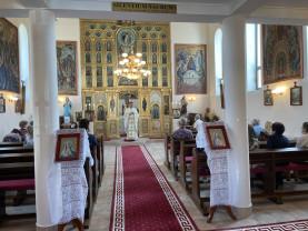 """Biserica greco-catolică din Băile """"1 Mai"""" - Nunțiul Apostolic, la resfințire"""