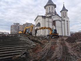 Parcarea subterană din jurul Catedralei ortodoxe - Au început săpăturile