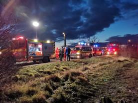 Un microbuz în care se aflau șase persoane s-a răsturnat - Accident pe DN19
