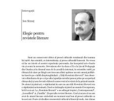 Interogații - Elegie pentru revistele literare