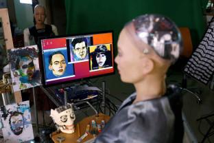 Operă de artă creată de robotul umanoid Sophia - Moment istoric pentru inteligenţa artificială