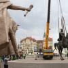 Regele Ferdinand a ajuns la Oradea, Mihai Viteazul, în depozit - Rocada statuilor ecvestre