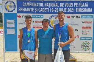 CN de volei pe plajă pentru cadeți (U18) - LPS Bihorul, vicecampioană națională