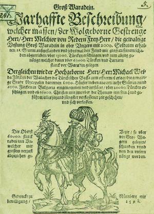 Primul document public cu denumirea Oradea Mare a fost identificat