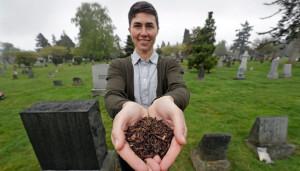 Noi servicii funerare ecologice - Cadavre umane devenite compost