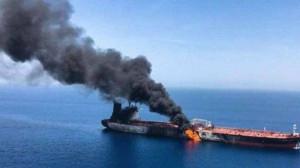 Un marinar român şi altul britanic au fost ucişi într-un atac asupra unui petrolier - Atac cu dronă în Marea Arabiei