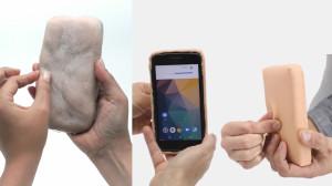 Piele artificială ce reacționează la gâdilat și mângâiat - Interfață pentru mobile